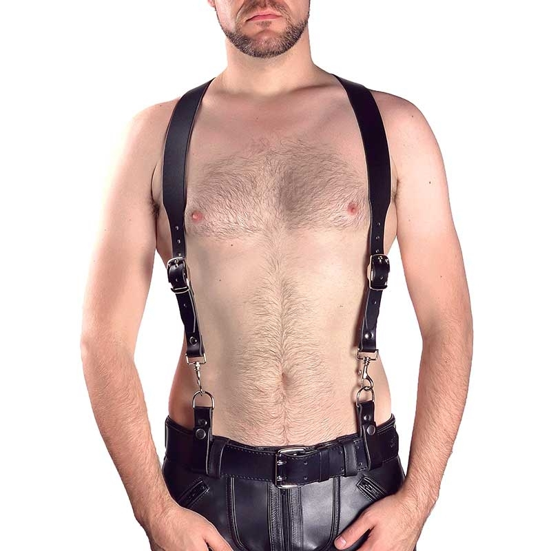 MISTER B LEDER HARNESS hot Basic HOSENTRAEGER TRISTAN MBL-601111 Fetisch Club black