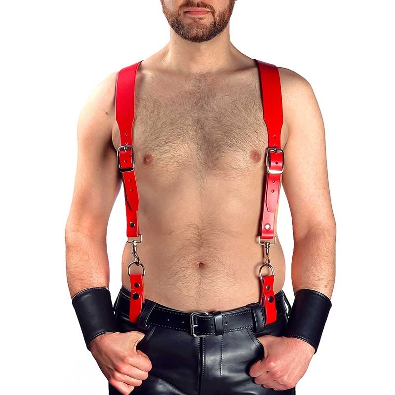MISTER B LEDER HARNESS hot Basic HOSENTRAEGER TRISTAN MBL-601113 Fetisch Club red