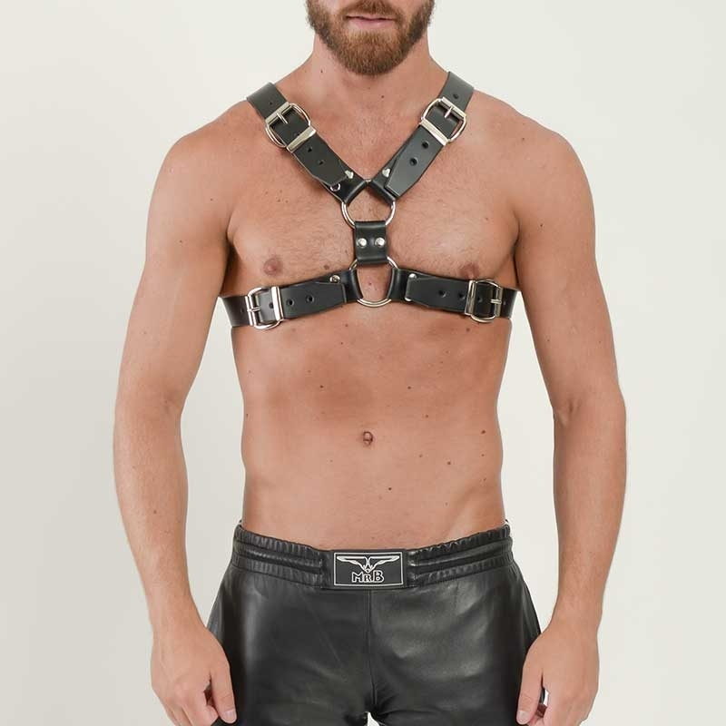 MISTER B LEATHER HARNESS hot ANGEL Y DESIGN Buckle MBL-600400 Fetish Club black