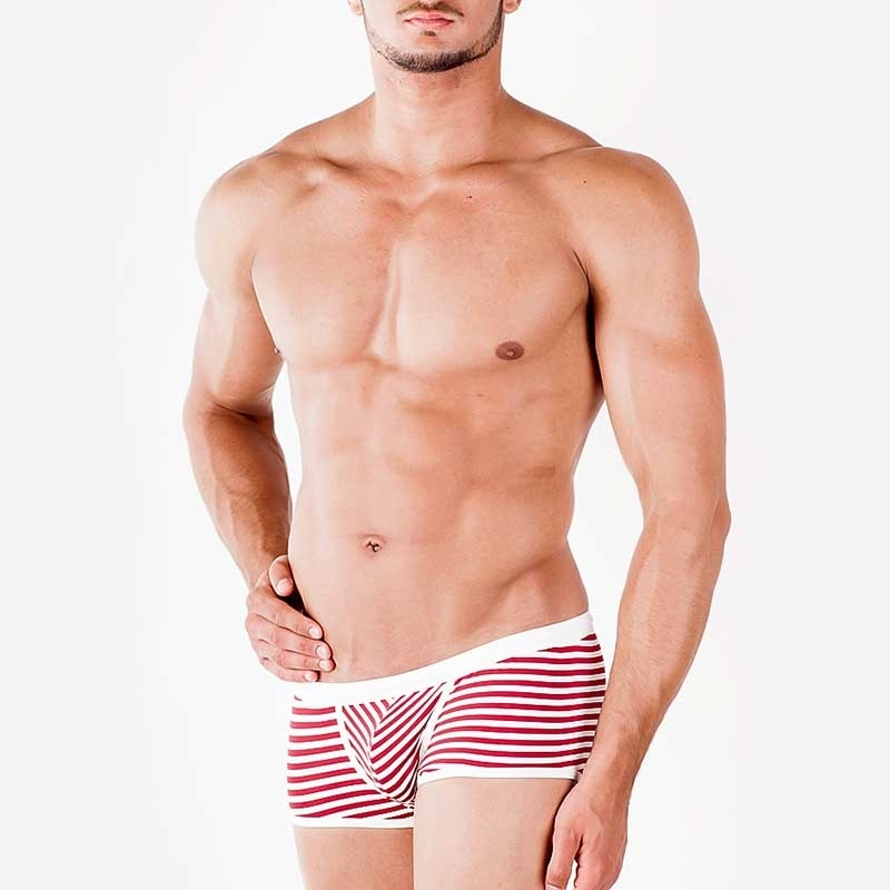 WAGNER Berlin 181469 BADEPANTS Gestreift regular ACTION Swim Unterhosen Mainstream white-bordeaux