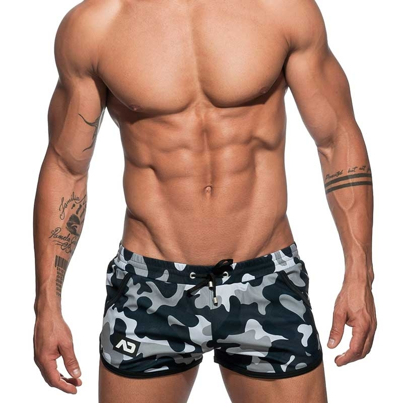 ADDICTED SHORTS AD583 colorful camouflage in charcoal grey