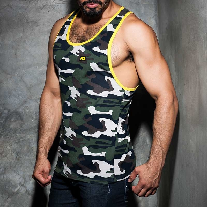 ADDICTED TANK TOP ADF65 Fetisch Camouflage