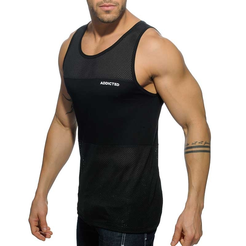 ADDICTED TANK TOP AD432 mesh hybrid