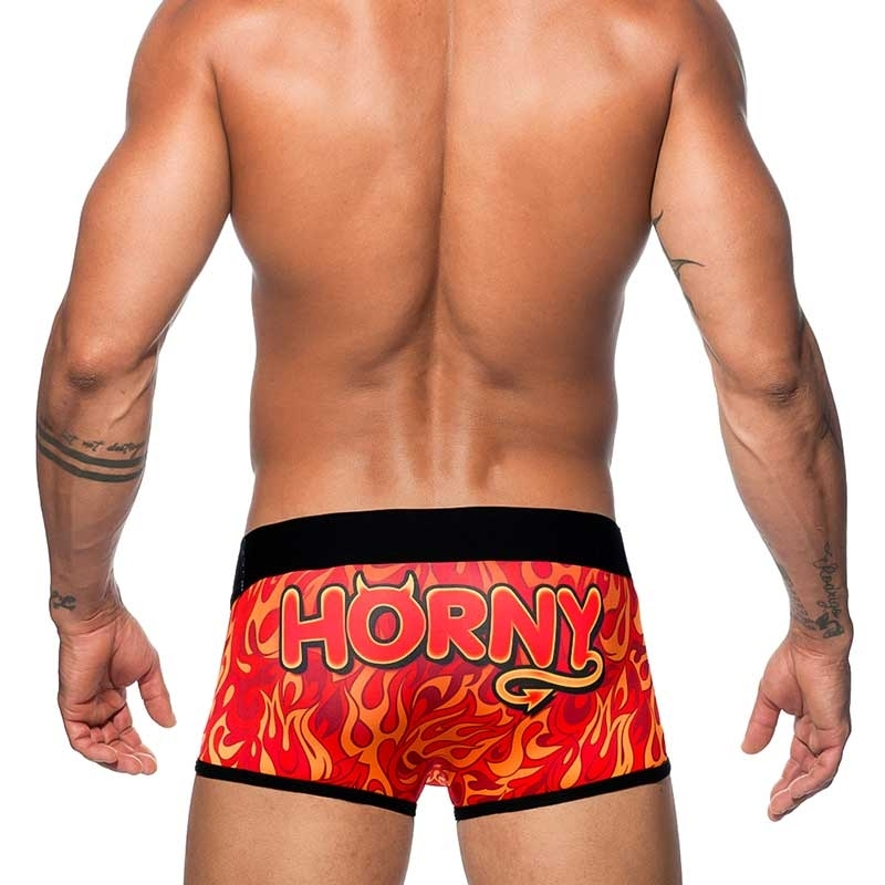 ADDICTED PANT AD598 with fire print