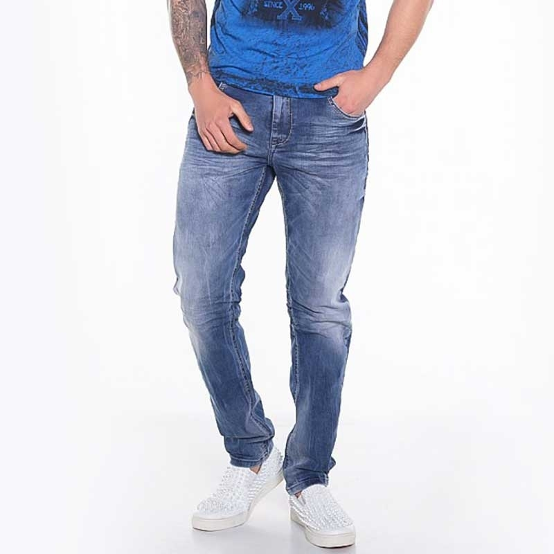 CIPO and BAXX JEANSHOSE CD319 zerknittertes Design