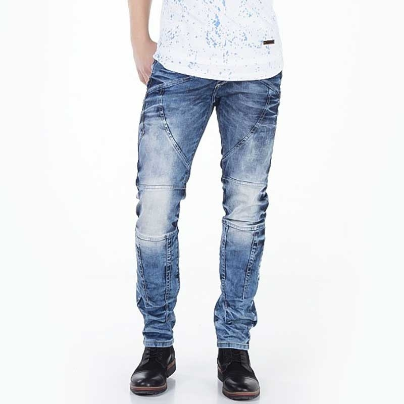 CIPO and BAXX JEANSHOSE CD346 diagonaler Knopfverschluss