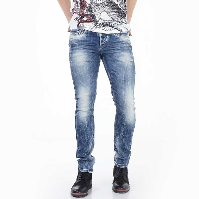 CIPO and BAXX JEANSHOSE CD356 Vintage-Stil