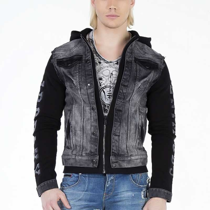 CIPO and BAXX JEANS JACKET CJ155 denim look