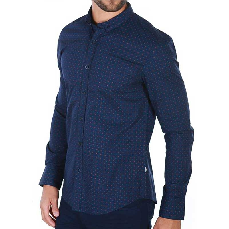 CARISMA DRESS SHIRT 8357 with multicolored polka dots