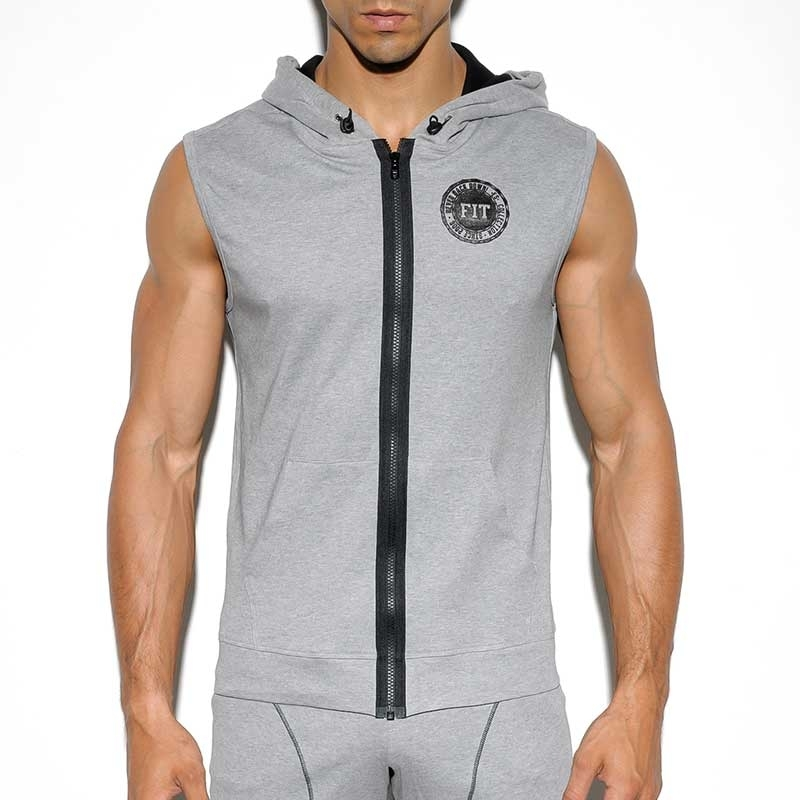 ES Collection HOODIE TANK SP159 mit modernem verstellbaren Kordelzug