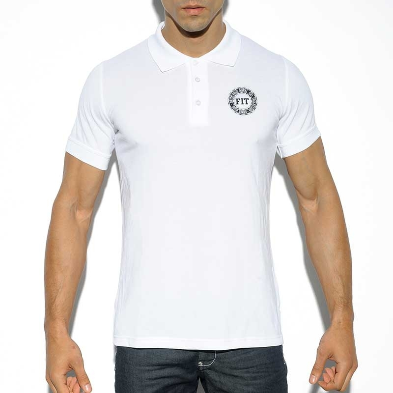 ES Collection POLOSHIRT POLO19 Fitness Design mit Kragen und Knopfverschluss