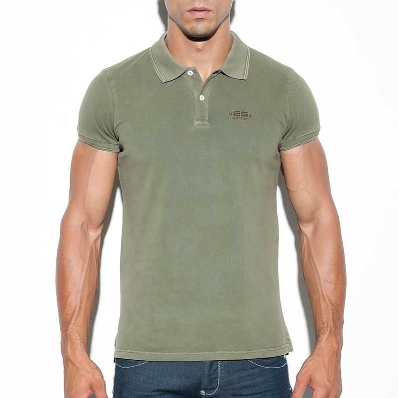 ES Collection POLOSHIRT POLO23 with nature dyed look