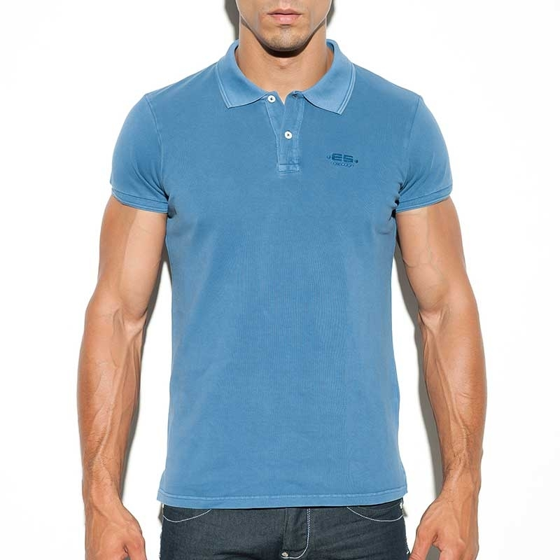 ES Collection POLOSHIRT POLO23 Stone gewaschen