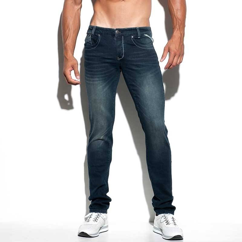 ES Collection JEANS ESJ037 verblasster dunkler Denim Look