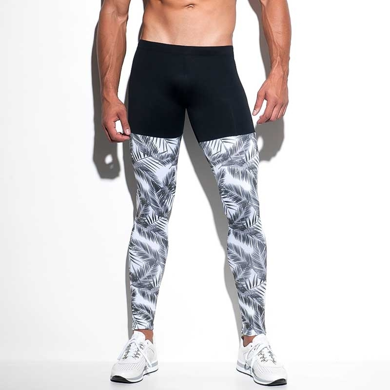 ES Collection LEGGINGS SP169 mit tropischem Druck
