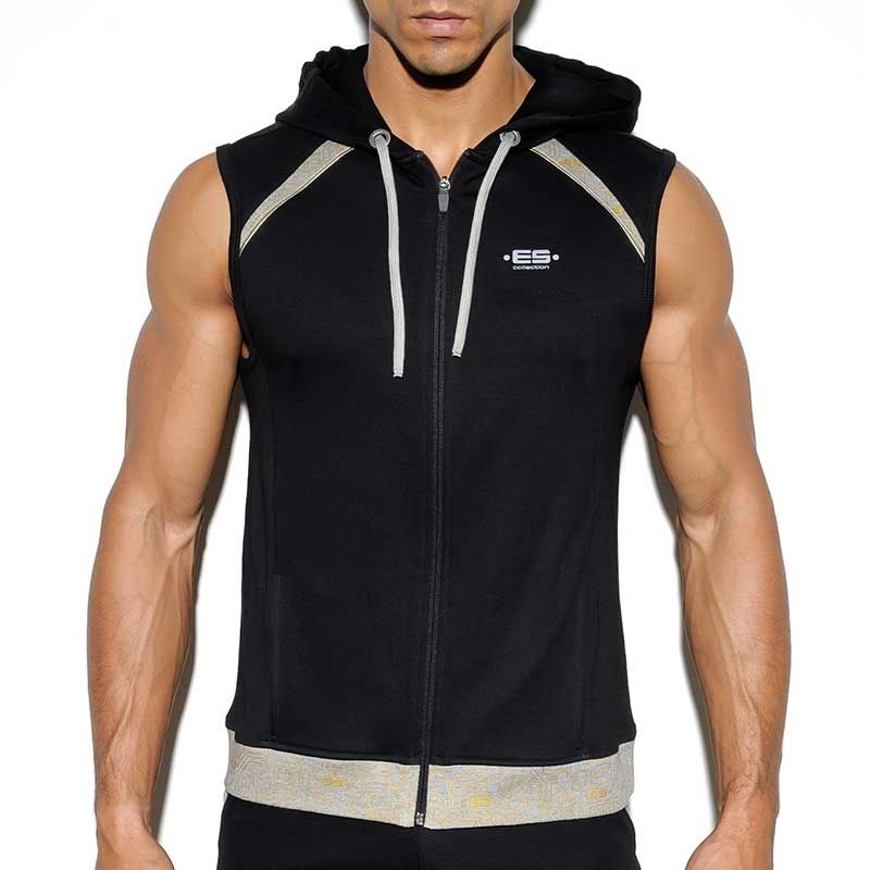 ES Collection HOODIE TANK SP150 with gold pattern
