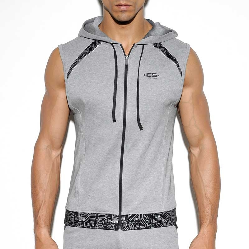 ES Collection HOODIE TANK SP150 with a circuit board print
