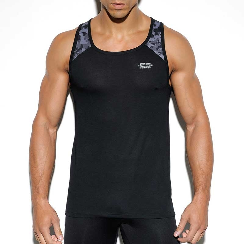 ES Collection TANK TOP TS199 designer camouflage pattern