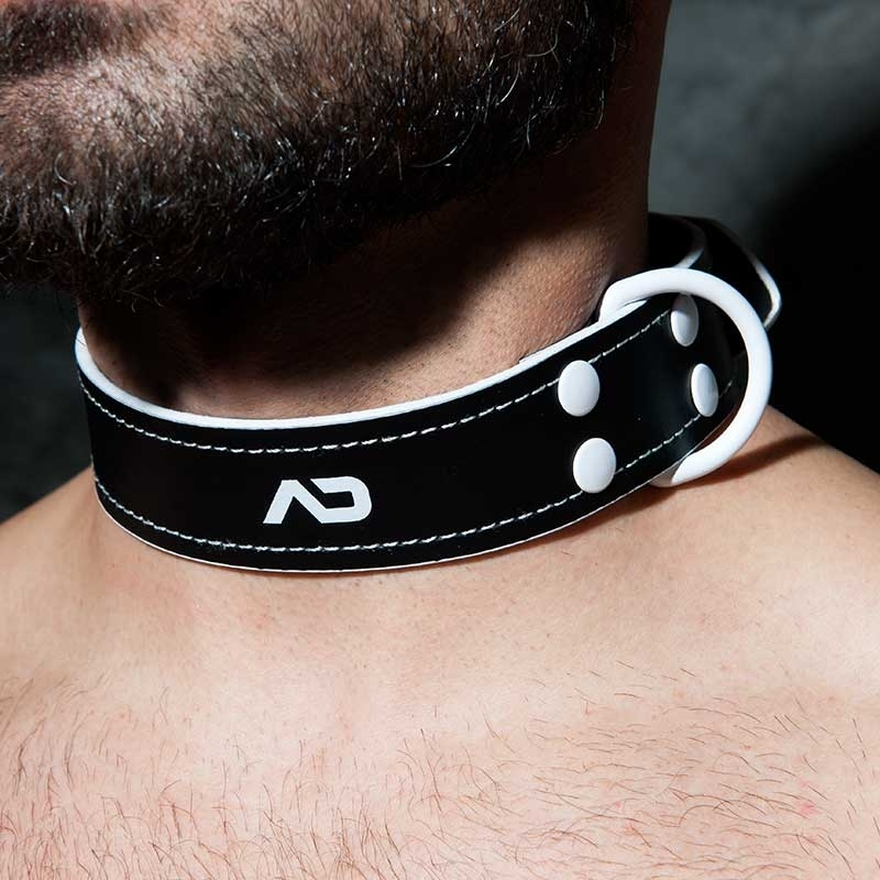 AD-FETISH COLLAR ADF44 with metal D-ring