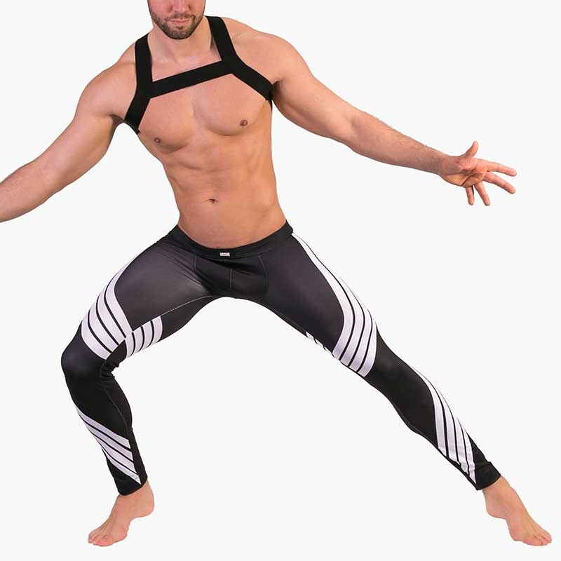 BARCODE Berlin LEGGINGS athletik 91481 training mit Spiralen in white