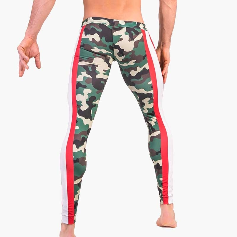 BARCODE Berlin LEGGINGS athletik 91481 training in camouflage mit Rallyestreifen