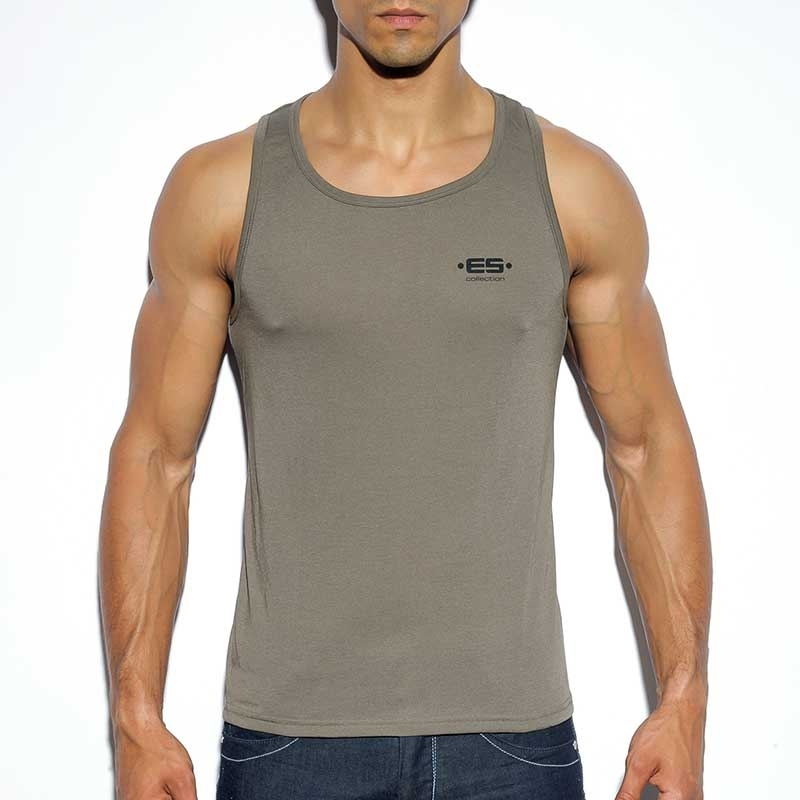 ES Collection TANK TOP TS119 with army uniform style