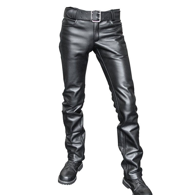 MISTER B LEATHER PANTS 10300 classic zipper closure