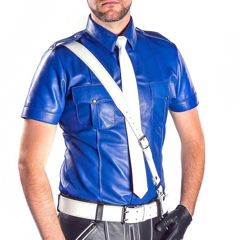MISTER B LEATHER SHIRT 16091 classic police design