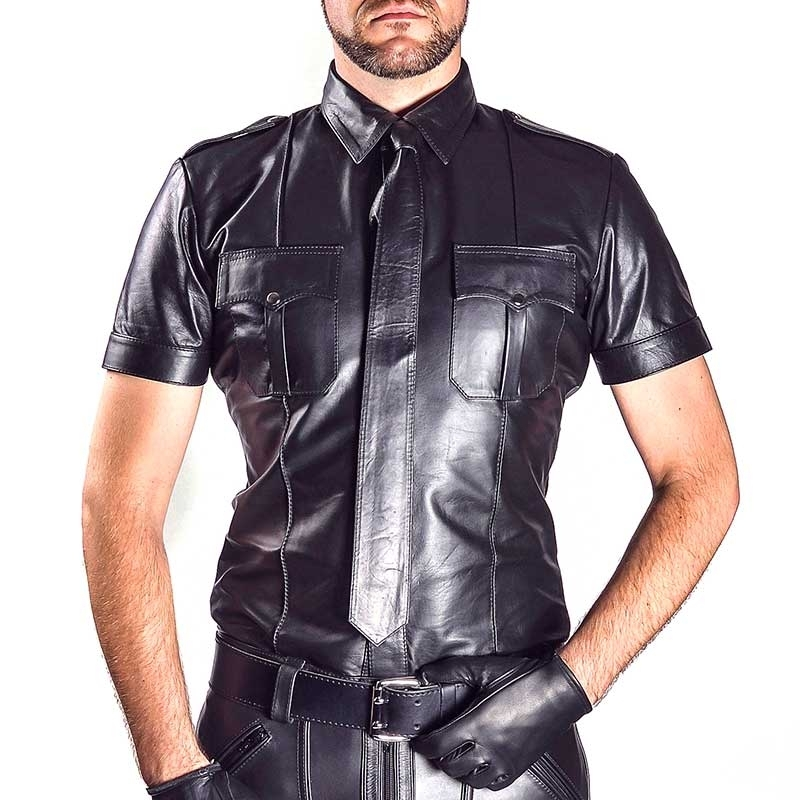 MISTER B LEATHER SHIRT 16096 with soft sheep leather
