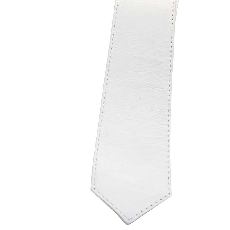 MISTER B LEATHER TIE 41034 with reinforced stitching