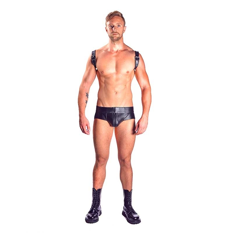 MISTER B LEATHER JOCK 23010 with large pouch