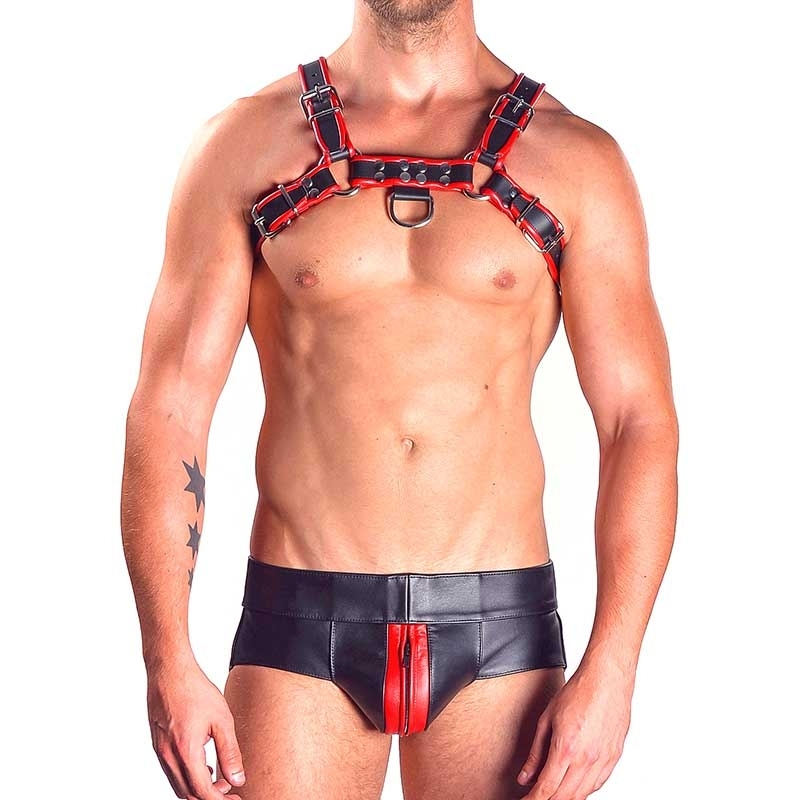 MISTER B LEATHER JOCK 23013 with a zipper pouch