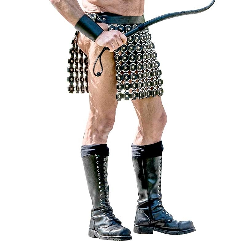 MISTER B LEATHER KILT 15030 designer gladiator style