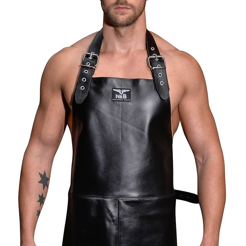 284b2cff MISTER B classic leather butcher's apron with adjustable straps