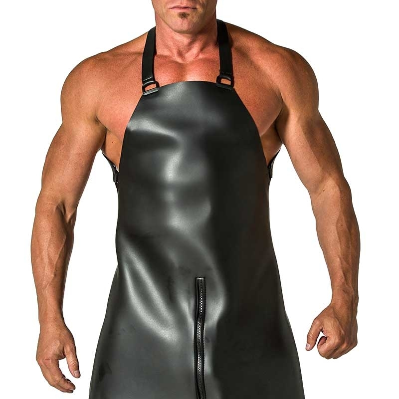 MISTER B LATEX APRON 346300 classic butcher look