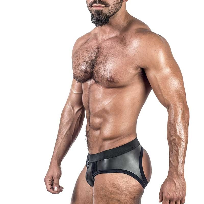 MISTER B NEOPRENE BRIEF 340100 with backless cut