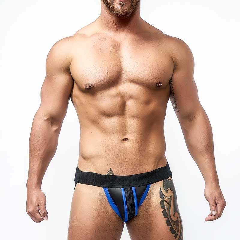 MISTER B NEOPRENE JOCK 340210 with hanky code piping
