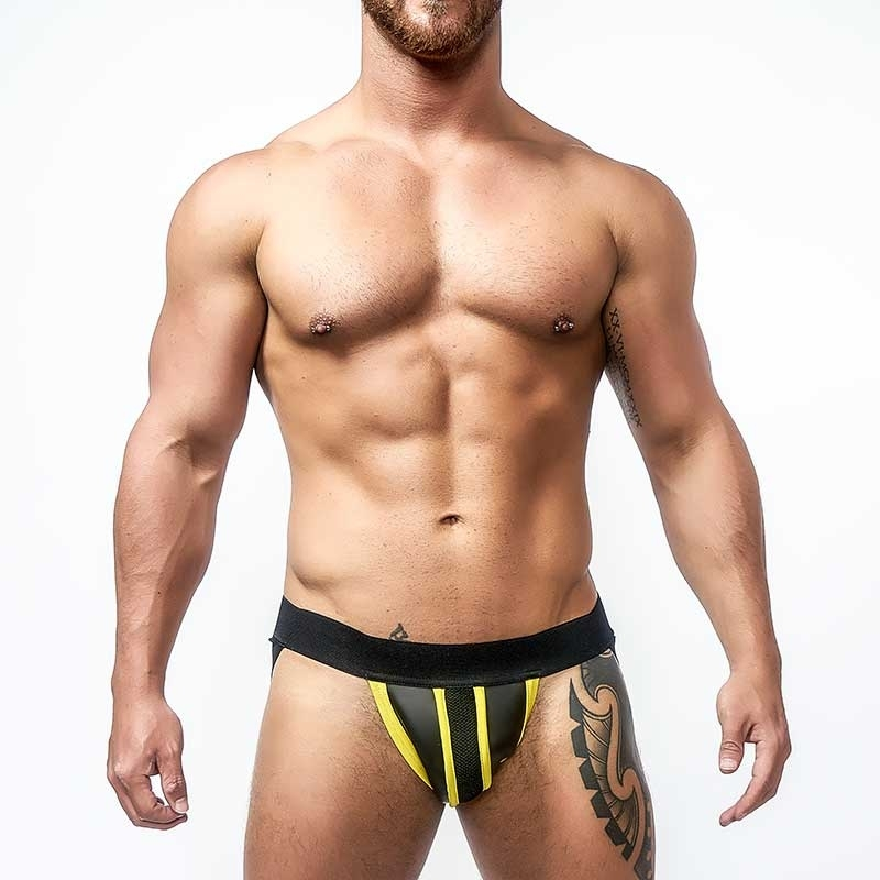 MISTER B NEOPRENE JOCK 340220 with hanky code piping