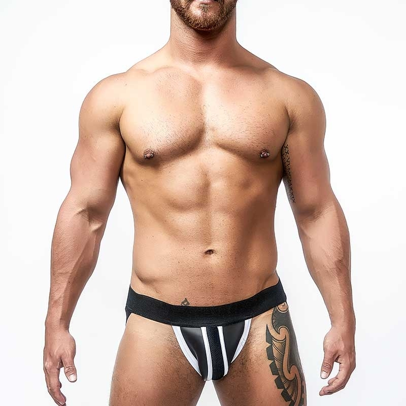 MISTER B NEOPRENE JOCK 340240 with hanky code piping