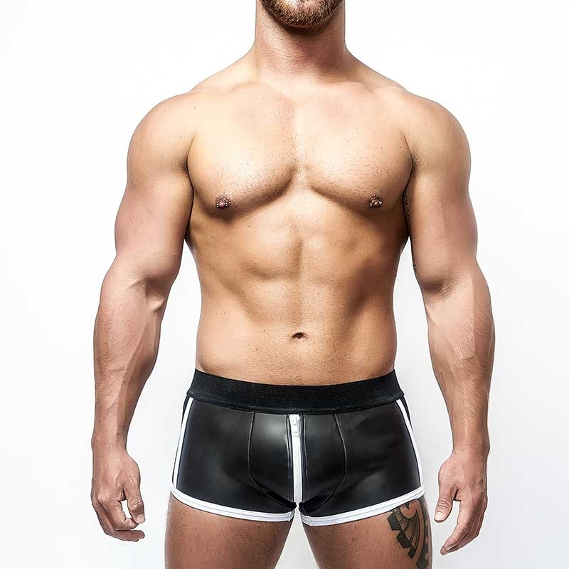MISTER B NEOPRENE SHORTS 340440 with full length zipper