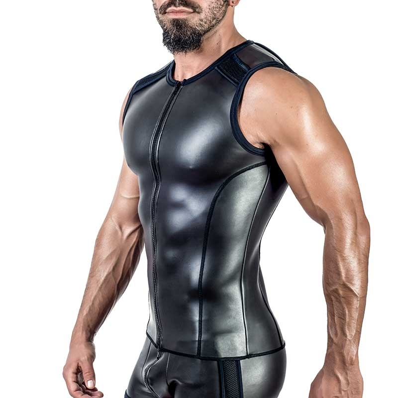 MISTER B NEOPRENE VEST 340500 with full length zipper
