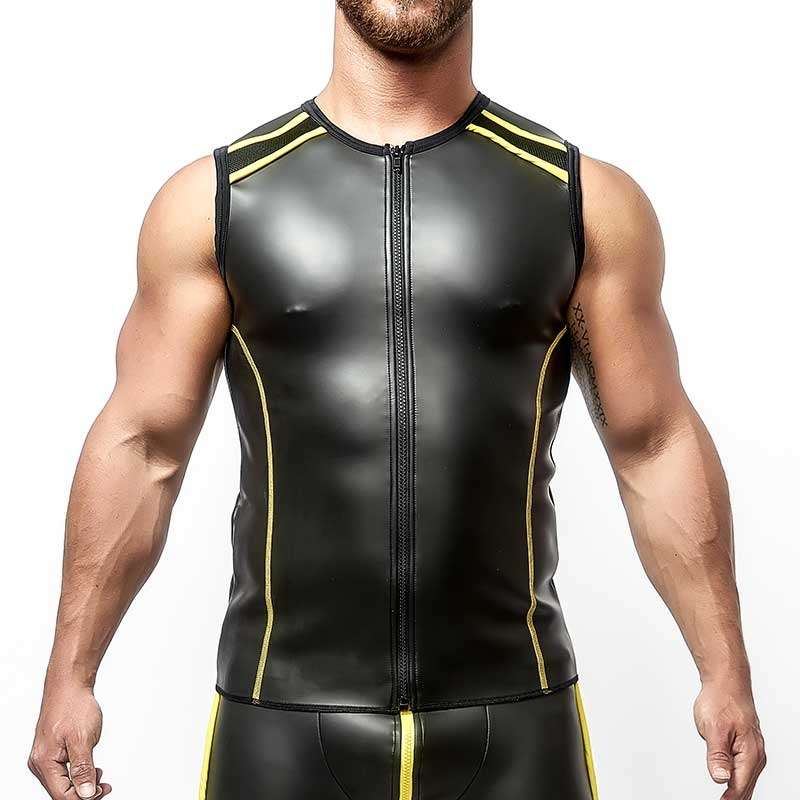 MISTER B NEOPRENE VEST 340520 with full length zipper