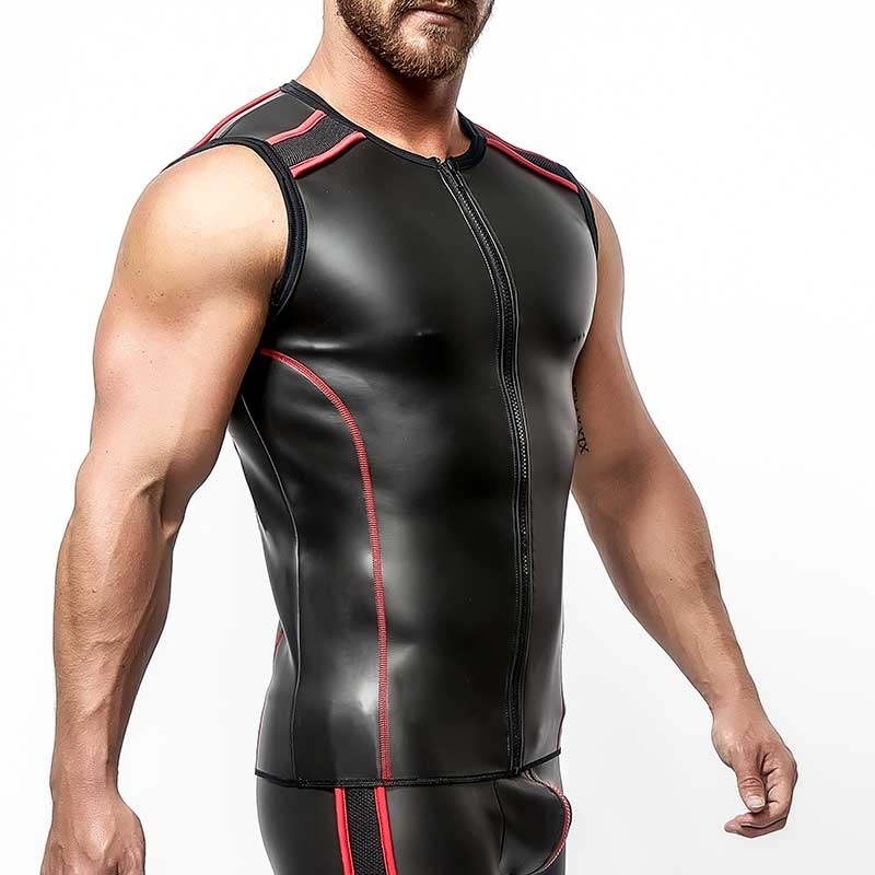 MISTER B NEOPRENE VEST 340530 with full length zipper
