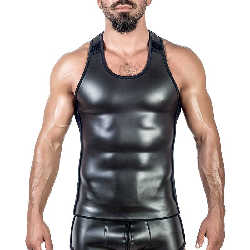 MISTER B NEOPRENE TANK TOP 340600 with athletic fit