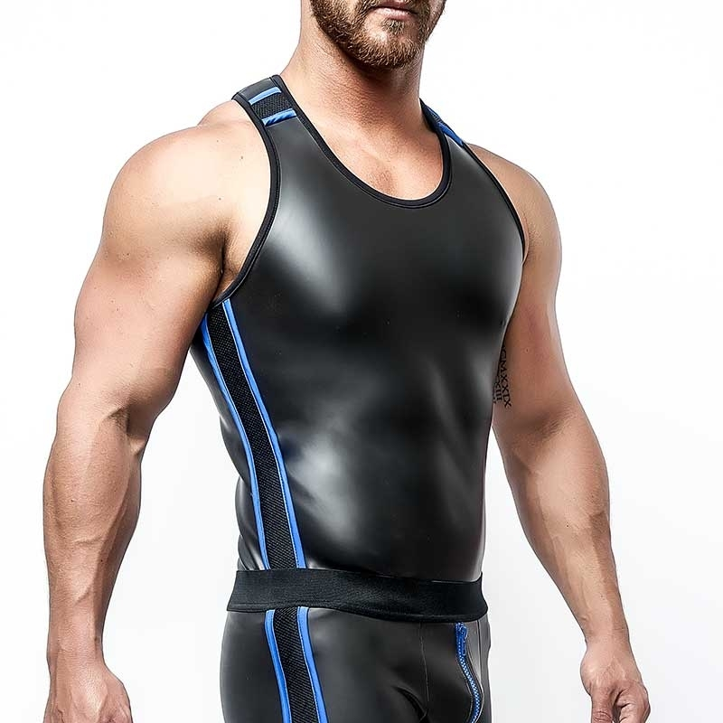 MISTER B NEOPRENE TANK TOP 340610 with athletic fit