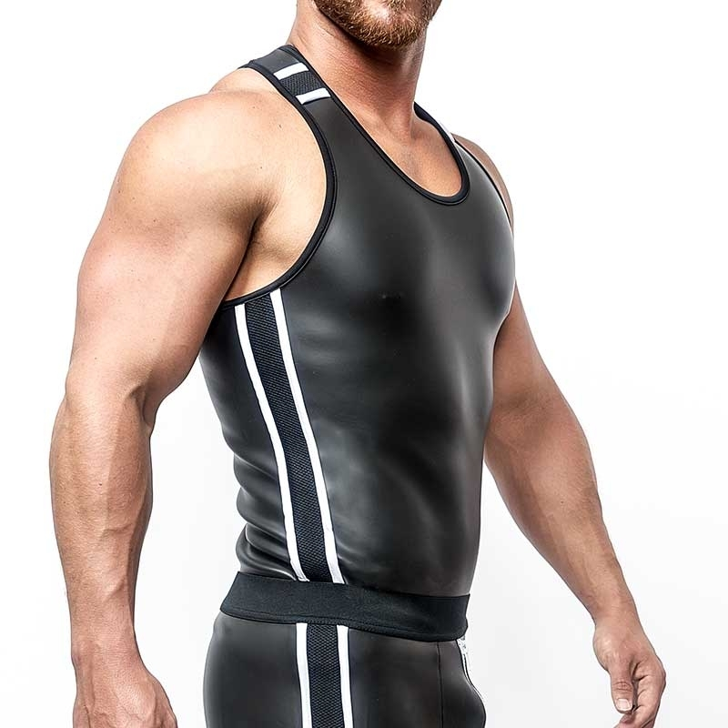 MISTER B NEOPRENE TANK TOP 340640 with athletic fit