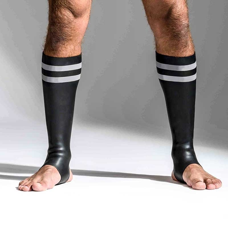 MISTER B NEOPRENE SOCKS 348870 with hanky code stripes