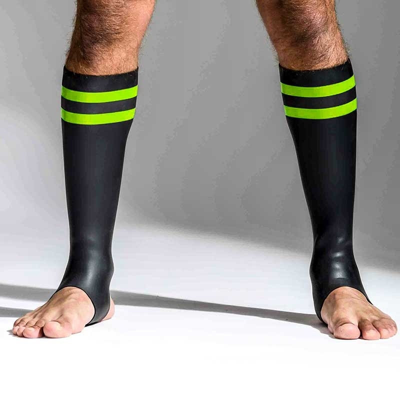 MISTER B NEOPRENE SOCKS 348890 with hanky code stripes