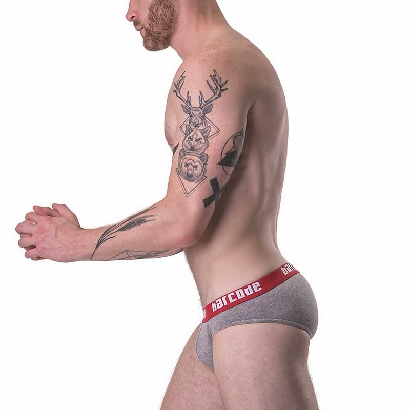BARCODE Berlin SLIP basic in grey 91427 color Bund red