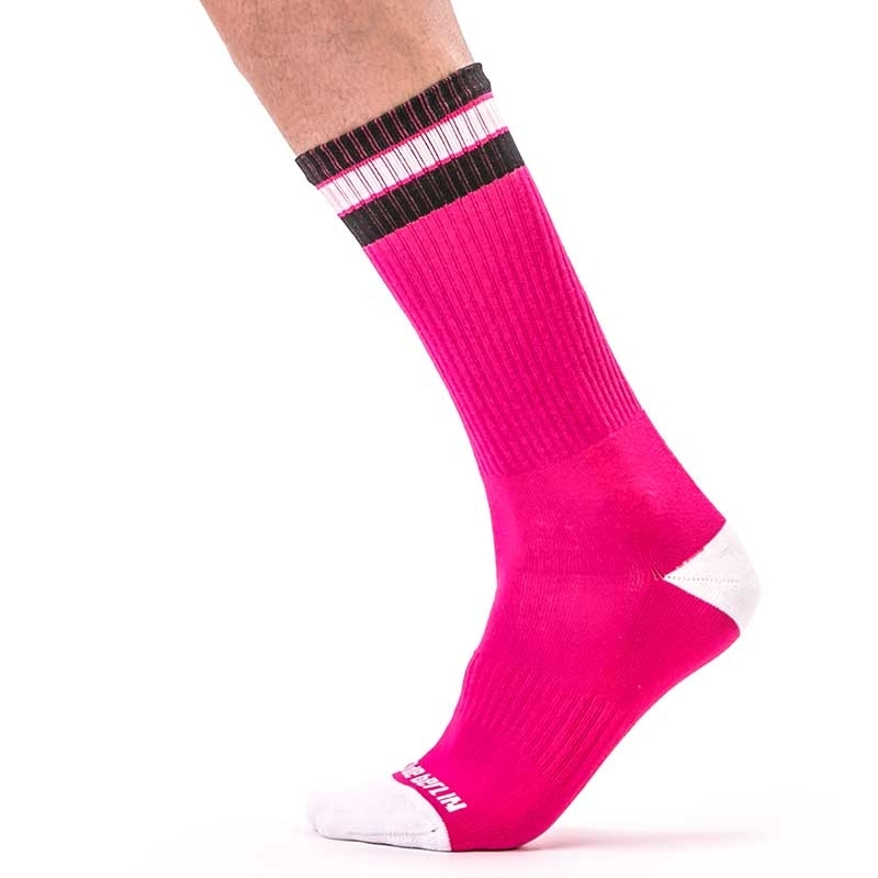 BARCODE Berlin STOCKING street Paris 91445 fitness socks pink